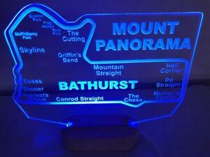 Bathurst Circuit LED race car track sign light map 285x220mm bar supercars