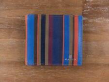 GALLO colorful stripes bifold leather wallet authentic - New in Box