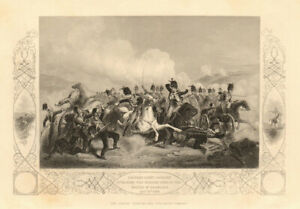 CHARGE OF THE LIGHT BRIGADE. Cavalry attacking Russians. 1854 Balaklava 1860