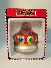Mary Engelbreit Queen of Everything Kurt Adler Crown Glass Christmas Ornament
