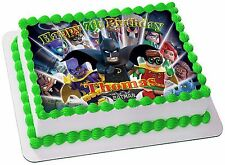 BATMAN LEGO EDIBLE ICING CAKE TOPPER PARTY IMAGE FROSTING SHEET