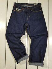 New Diesel Men's Jeans W31 L32 Khiro 0076C Regular Straight Raw Ink Blue