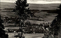 Tabarz Thüringer Wald DDR s/w Postkarte 1963 Gesamtansicht Panorama mit Umgebung