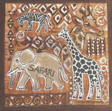 Lot de 3 Serviettes en papier Safari Decoupage Collage Decopatch