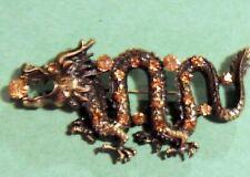 broach Orange & Black Beautiful Fashion Dragon Jewelry Pin brooch