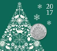 2017 UK Christmas Tree BU £5 Five Pound Coin In Presentation Pack