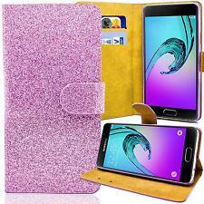 Glitzer Book Style Handy Tasche für Samsung & iPhone Schutz Hülle Etui Flip Case