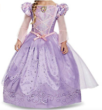 Disney Princess Rapunzel Halloween Costume with Gloves Size Small (4-6X)