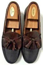 Allen Edmonds Nashua Loafers Shoes Black Leather Kiltie Tassel Mens Size 15