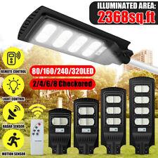 800W 320LED Solar Street Light Motion Sensor Outdoor Wall Lamp Bright Floodlight