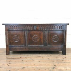 Antique 18th Century Carved Oak Blanket Box (M-2353) - FREE DELIVERY*