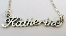"""Sterling Silver Box Chain with Name - """"KATHERINE"""" - 1803"""
