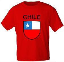 Kinder T-Shirt rot Gr. 80-152 Wappen Flagge Land Chile 73036