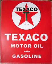 TEXACO Tin Sign GARAGE Metal AUTOMOTIVE Motor Oil PETROL Gas Collectable