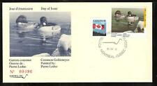 CANADA QUEBEC PROVINCE # QW4 WILDLIFE CONSERVATION 1991 FIRST DAY COVER