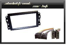 Radioblende 2DIN für Chevrolet Aveo Captiva Epica Lacetti Einbaurahmen + Adapter