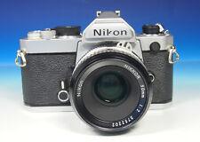 Nikon FM Spiegelreflexkamera SLR Camera mit NIKKOR 2.0/50mm - (200632)