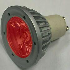 1W Single LED Red Coloured GU10 Spot Light Bulbs Down Light Instant On Lamps