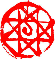 2x Fullmetal Alchemist -- Blood Seal Edward Alphonse Elric Anime Decal Sticker