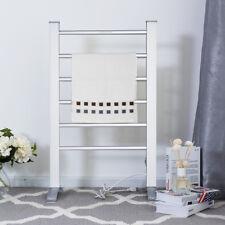 2-in-1 Freestanding Wall Mounted Electric Towel Rail Rack Bathroom Warmer Heated