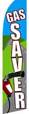 GAS SAVER Car Lot Auto Dealer Swooper Banner Feather Flutter Curved Top Flag