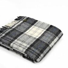 Country Checked 100% Wool Decorative Throws