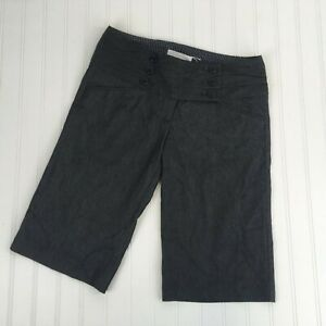 Charlotte Russe Long Dress Shorts Size 5 Wide Waistband Black Chambray Near Knee