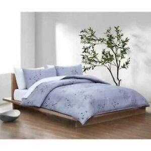 "New Calvin Klein 3 Piece Comforter Set, Queen Bamboo Flowers 92 x 96"""