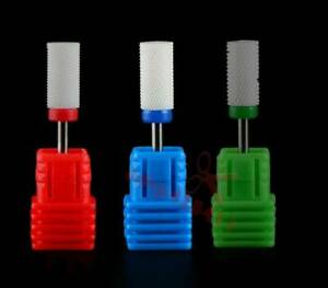"Ceramic Nail Drill Bits Set 3/32"" Polish Professional Electric Manicure Tools"