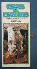 1970s Era National Caves Association-United States Caverns directory brochure!*