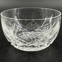 Vintage Signed Waterford Crystal Glass Lismore Single Finger Berry Bowl 3 7/8""