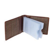 NUVOLA PELLE Porta carte di credito in Pelle MARRONE con 10 bustine trasparenti