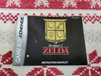 The Legend of Zelda - Authentic - Game Boy Advance - Manual Only AGB-FZLE-USA-1