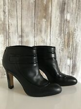 COLE HAAN Air Black/ Patent Leather Bootie Ankle Heel Boots 7.5 * RARE!