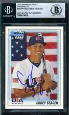 COREY SEAGER 2010 BOWMAN DRAFT ROOKIE BAS Beckett Coa Autograph Authentic Signed