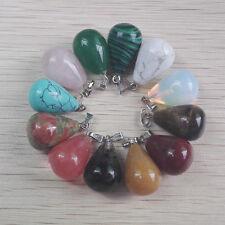 Wholesale Lot 10pcs MIX Natural Stone tears Gemstone Necklace Pendant charms