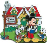Disney Pin 55799 Mickey's Pin Festival of Dreams Duck Nephews Meet Mickey Event