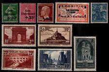 L'ANNÉE 1929 Complète, Neufs * = Cote 1575 € / Timbres France 253 à 262 sauf 256
