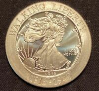 1 Troy Ounce .999 Silver Walking Liberty Commemorative Copy Coin
