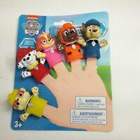 Paw Patrol Finger Puppets Bath Safe Toys Nickelodeon Set of 5 Stocking Stuffer