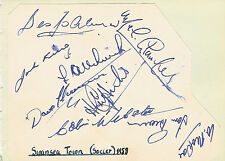 SWANSEA TOWN (now City ) FOOTBALL TEAM 1958 SIGNED ALBUM PAGE
