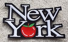 NEW YORK BIG APPLE PATCH Cloth Badge Biker Jacket United States of America USA
