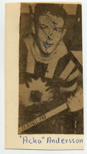 1964 Ice Hockey Silver ANDERS ANDERSSON Orig Autograph from 1950s