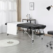 "84"" Adjustable Aluminum Massage Table 3 Sections with Backrest/Headres"