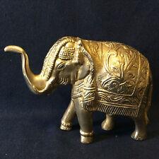 Inde éléphant sacré bronze doré ouvragé anonyme INDIA, BHARAT