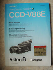 SONY VIDEO CAMERA RECORDER VIDEO 8 Model: CCD-V88E Bedienungsanleitung Deutsch