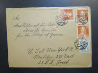 Germany 1947 Cover to USA w/ Small Top Tear - Z6383