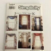 Simplicity Sewing Pattern 0684 Abbies Jiffy 6 Pack Window Treatments Home Decor