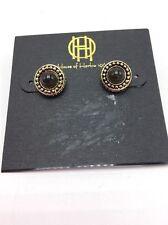$22 House Of Harlow Cuzco Grey Stud Earrings HH-13