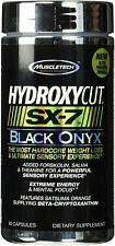 Muscletech Hydroxycut SX-7 Black Onyx 80 caps Powerful Weight Loss & Focus NEW